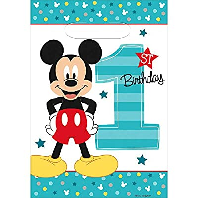 Disney Mickey's Fun to be One Folded Loot Bags, Party Favor: Toys & Games