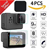 Kimilar 4 Pcs GoPro Hero 5 Black Screen Protector with Lens Cap, Waterproof LCD Screen and Lens Tempered Glass for GoPro Hero 5 Black Camera, 2.5D Ultra Clear Anti-scratch Film