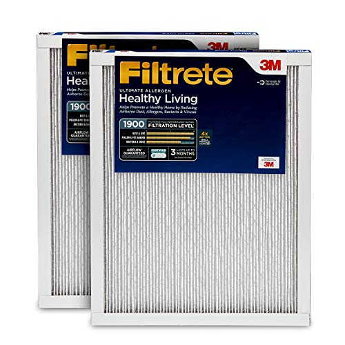 Filtrete 14x14x1, AC Furnace Air Filter, MPR 1900, Healthy Living Ultimate Allergen, 2-Pack ()