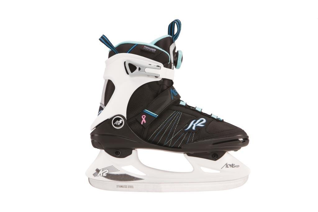 K2 Skate Alexis Ice BOA Skates, Black/White/Blue, Size 8.5 by K2 Skate
