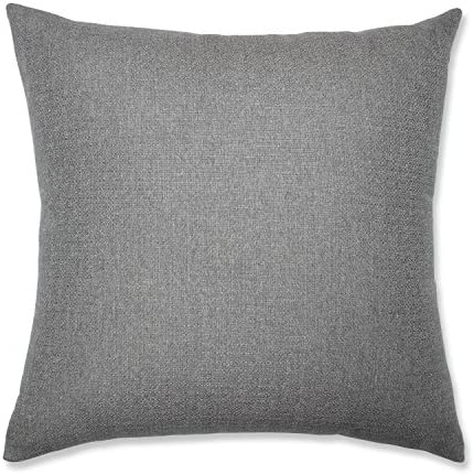 Pillow Perfect Indoor Sonoma Pewter 24.5-inch Floor Pillow, Grey 24.5 X 24.5 X 5