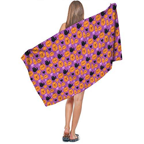 DoorSignHHH Indoor/Outdoor Soft Extra Large Bath Towel Happen Halloween Quick Dry Absorbent Personalized Travel 27.5
