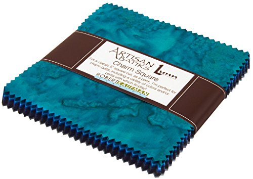Lunn Studios PRISMA DYES OPEN WATERS BATIKS Precut 5-inch Charm Pack Cotton Fabric Quilting Squares Assortment Robert Kaufman CHS-267-42