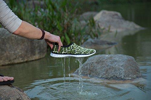 AVADAR Wasser Schuhe, Männer Frauen Wasser Schuhe Barfuß Quick Dry Aqua Schuhe für Schwimmen Walking Yoga See Beach Garden Park Fahren Bootfahren. Grün2
