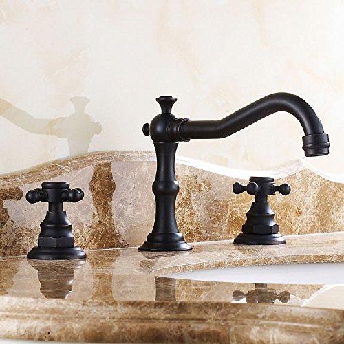 modern-antique-black-chester-basin-faucet-deck-mounted-widespread-faucet-mixer-tap