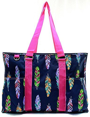 N. Gil All Purpose Organizer 18'' Large Utility Tote Bag 2 (Feather Hot Pink)