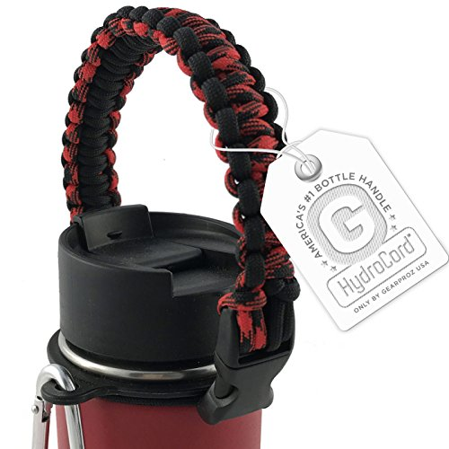 Hydro Flask Handle, America's #1 Paracord Bottle Carrier for Wide Mouth Nalgene Bottles and Hydro Flasks, Includes HydroCord Strap w/Safety Ring to Guarantee No Dropping (Falcons (Falcons Bottle Cap)