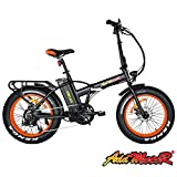 Addmotor Motan Folding Adult Electric Bikes 20 Inch Fat Tires Bicycle 48V 500W Motor Pedal Assit Ebike 10.4Ah Lithium ION Battery Snow Beach M-150 for Men Women 4 Colors