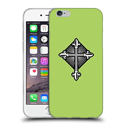 "GoGoMobile Coque de Protection TPU Silicone Case pour // Q08010628 Christian Cross 26 poule // Apple iPhone 6 4.7"""