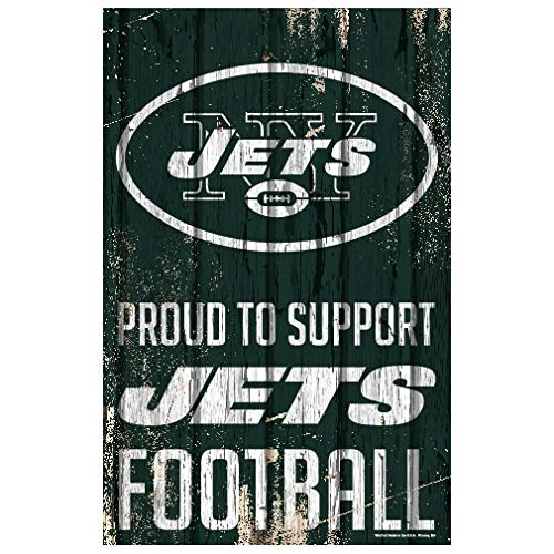 Wincraft NFL New York Jets SignWood Proud to Support Design, Team Color, 11x17