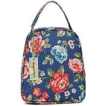 wonderful flower women insulated fashionable lunch bag flower Small Lunch Bag Lunch Bunch (G04Blue)