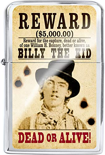 Victor Western Wanted Poster Oil Lighter (Billy The Kid)