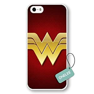 Onelee(TM) - Customize Cartoon White Superwoman Wonder Woman iPhone 5/5s case - White 6 by mcsharks
