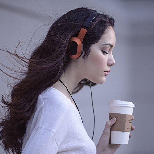 kef m400. kef m400 hi-fi on-ear headphones - sunset orange lovely kef