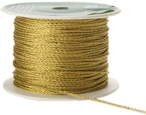 May Arts 2mm Wide Ribbon, Metallic Gold Cord by May Arts