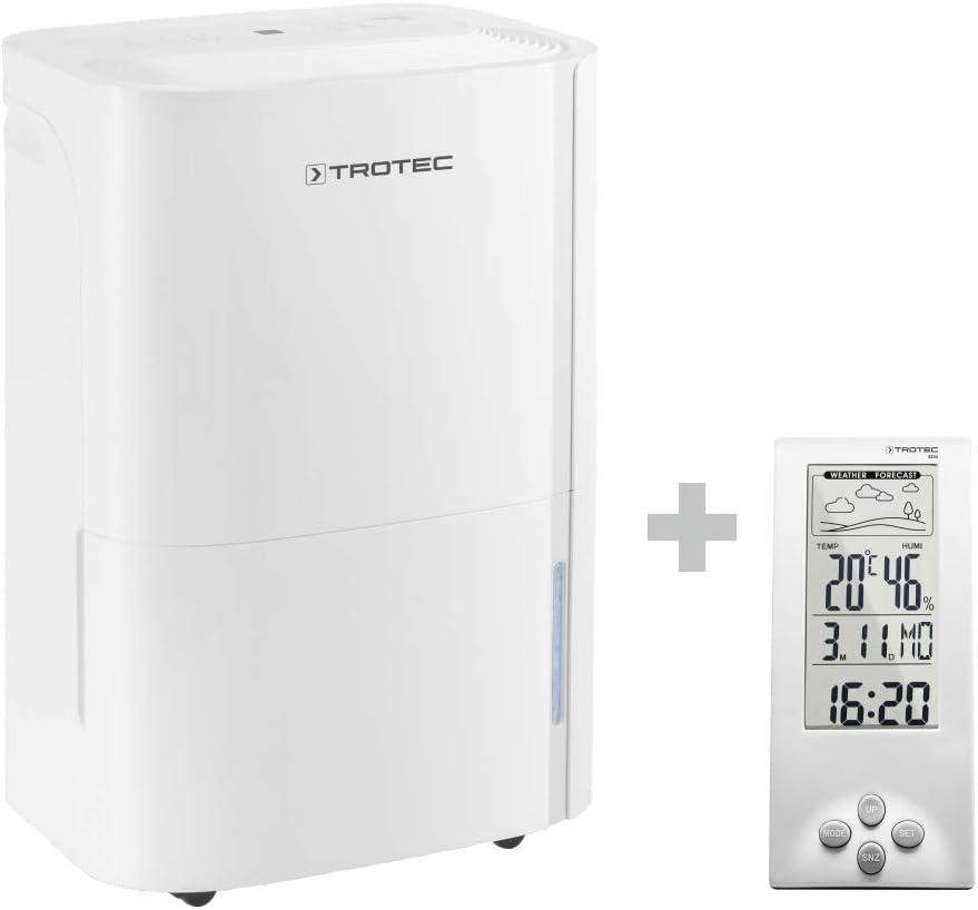 TROTEC Deshumidificador eléctrico TTK 54 E/Purificador de Aire Filtro de Aire/Temporizador / 430 W/Auto-Apagado incluido el BZ06: Amazon.es: Bricolaje y herramientas