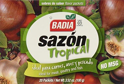 Badia, Sazon Tropical No Msg 20Pk, 3.52-Ounce