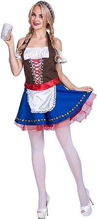 KINDOYO Mujer Disfraz de Fiesta de Oktoberfest Halloween Bar Maid ...