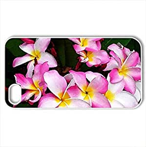Beautiful Plumeria for Dear Friend A-A - Case Cover for iPhone 4 and 4s (Flowers Series, Watercolor style, White)