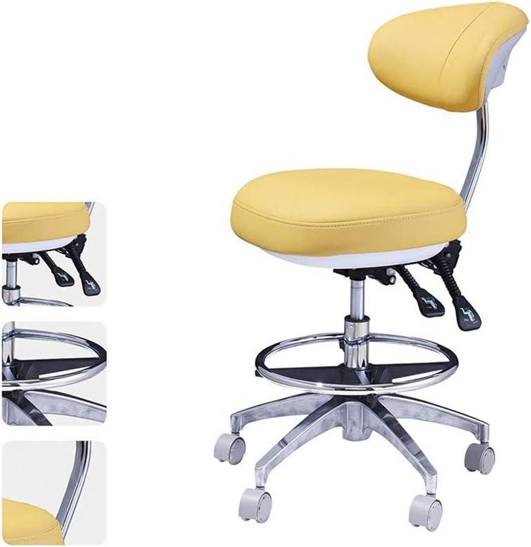 SXBAR STOOLS Silla giratoria Dental Silla giratoria Asiento de médico Oral para Dentista, salón de consultorio médico y Uso en consultorio,Color1
