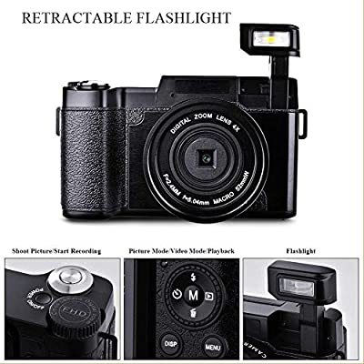 Digital Camera Vlogging Camera Full HD1080p 24.0MP 3.0 Inch Flip Screen Camera for YouTube from SUNLEA