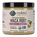 Cheap Garden of Life mykind Organics Fair Trade Organic Gelatinized Peruvian Maca Root Energy Boost 7.93 oz (225g) Powder with Probiotics, Certified Organic, Non-GMO, Vegan & Gluten Free Herbal Supplements