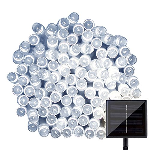 100 White Solar Led String Lights - 1