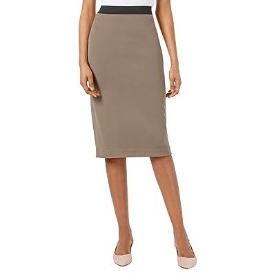 Alfani Womens Midi Scuba Pencil Skirt Tan XXL at Women's Clothing store