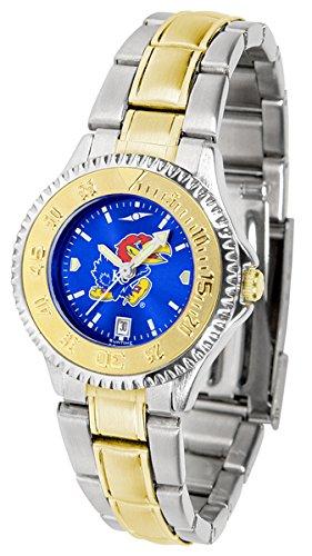 (Kansas Jayhawks Competitor Two-Tone AnoChrome Women's Watch)