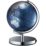 """8"""" Illuminated World Globe with USB Cable,Designed in Japan,Fassionable Interior Object(Blue)"""