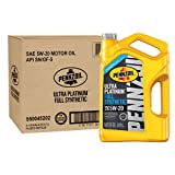 Pennzoil 550045202-3PK Ultra Platinum 5 quart 5W-20 Full Synthetic Motor Oil