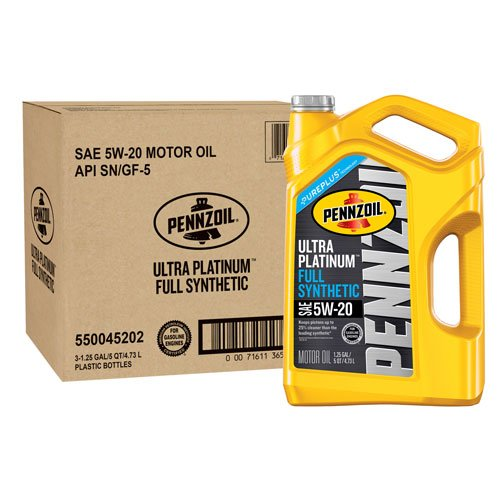 Pennzoil 550045202-3PK Ultra Platinum 5 quart 5W-20 Full Synthetic Motor Oil by Pennzoil
