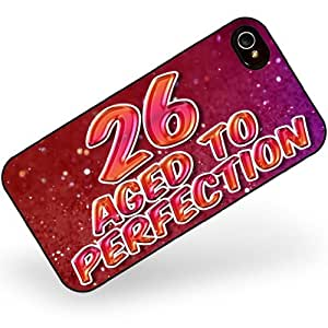 Rubber Case for iphone 4 4s 26 Years! Aged to Perfection, Happy Birthday - Neonblond
