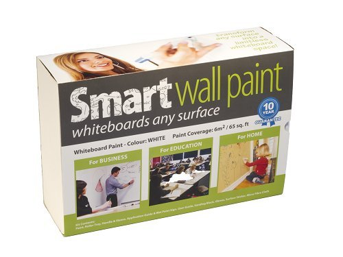 Dry-Erase Paint + Accessories - 36m² / 387ft² White by Smarter Surfaces