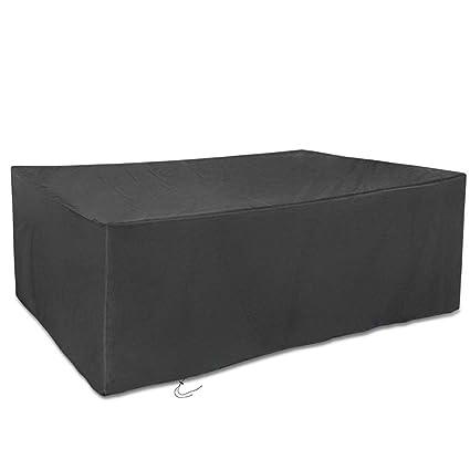 123 * 123 * 74Cm Ainstsk Outdoor Garden Furniture Cover, Large Waterproof Breathabl
