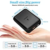 Wireless Portable Charger, Hokonui 10W Fast Qi Mini Wireless Power Bank 10000mAh 3 Outputs&Dual Inputs with QC 3.0&18W PD3.0 and LCD Display External Battery Pack for iPhone, iPad, Samsung and More