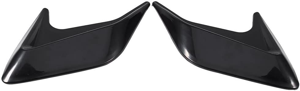 A Qiilu 2x Car Decorative Air Scoop Flow Intake Hood Vent Bonnet Universal DIY Style