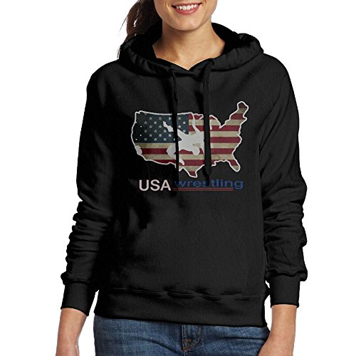 CL&WZ Women's USA Wrestling Pullover Hood by CL&WZ