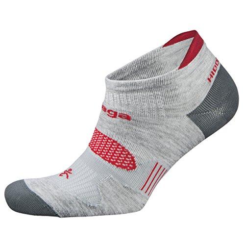 Balega Hidden Dry Moisture-Wicking Socks For Men and Women (1 Pair), Grey/Red, X-Large