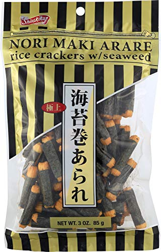 ((NOT A CASE) Nori Maki Arare Rice Crackers with Seaweed)