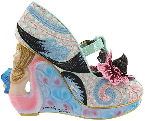 Tacones Irregular Choice Aquata Wedge (Azul/Rosa) Azul/Rosa