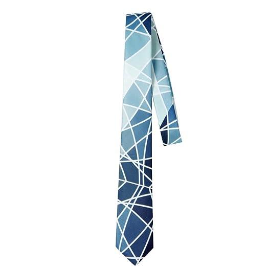 Wangyi Corbata- Corbata de Negocios de diseño Original Azul de 6 ...