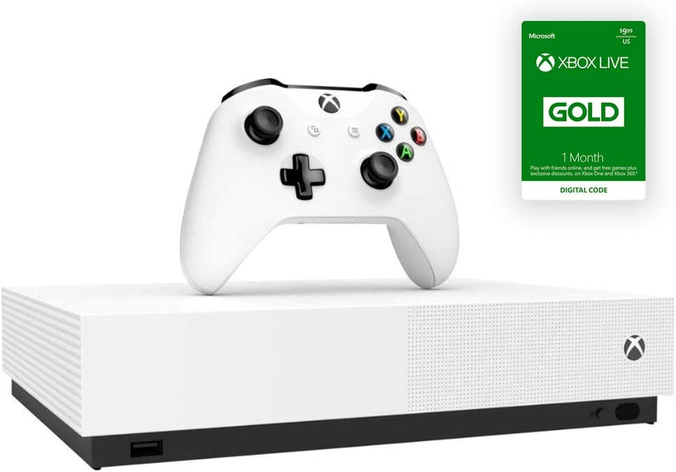 Microsoft – Xbox One S 1TB All-Digital Edition Console with Xbox One Wireless Controller