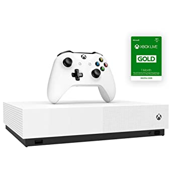 Amazon Com Microsoft Xbox One S 1tb All Digital Edition Consola Con Mando Inalambrico Xbox One Microsoft Video Games