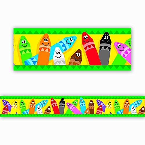 TREND enterprises, Inc. Colorful Crayons Bolder Borders, 35.75'