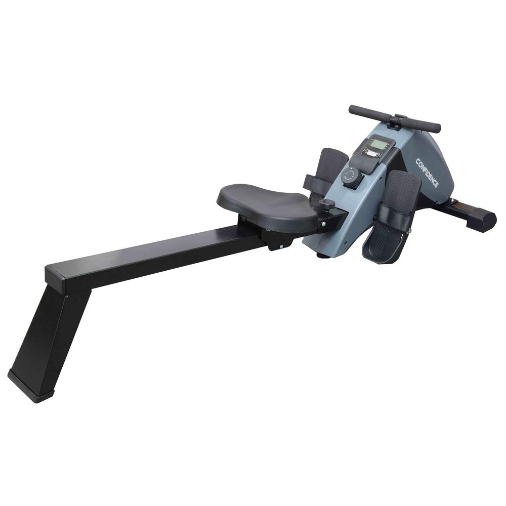 Confidence Fitness Magnetic Rowing Machine with Adjustable Resistance - Foldable - for Home Use by Confidence (Image #1)