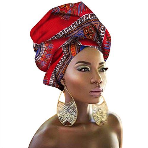 Chien TJ01 African Traditional Wax Print Head wrap Headwrap Scarf Tie, Multi-Color Urban Ladies Hair Accessory Headband Head Scarf