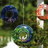 Evergreen Enterprises EG2BF245 Glass Speckle/Swirl Circle Feeder, Assorted 3 pcs