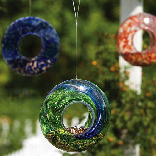 Evergreen Enterprises EG2BF245 Glass Speckle/Swirl Circle Feeder, Assorted 3 pcs by Evergreen Enterprises