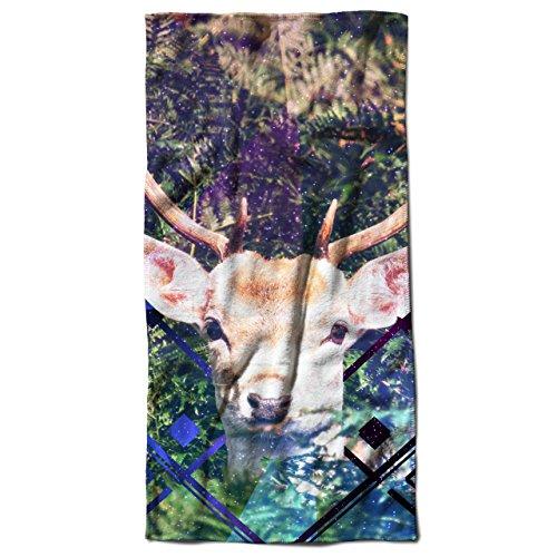 Reindeer Gift Christmas Deer Stag Beach Towel 20